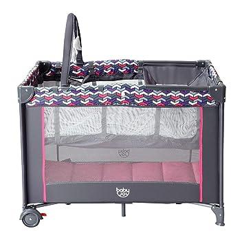 Amazon.com: Plegable viaje bebé cuna Playpen con juguetes de ...