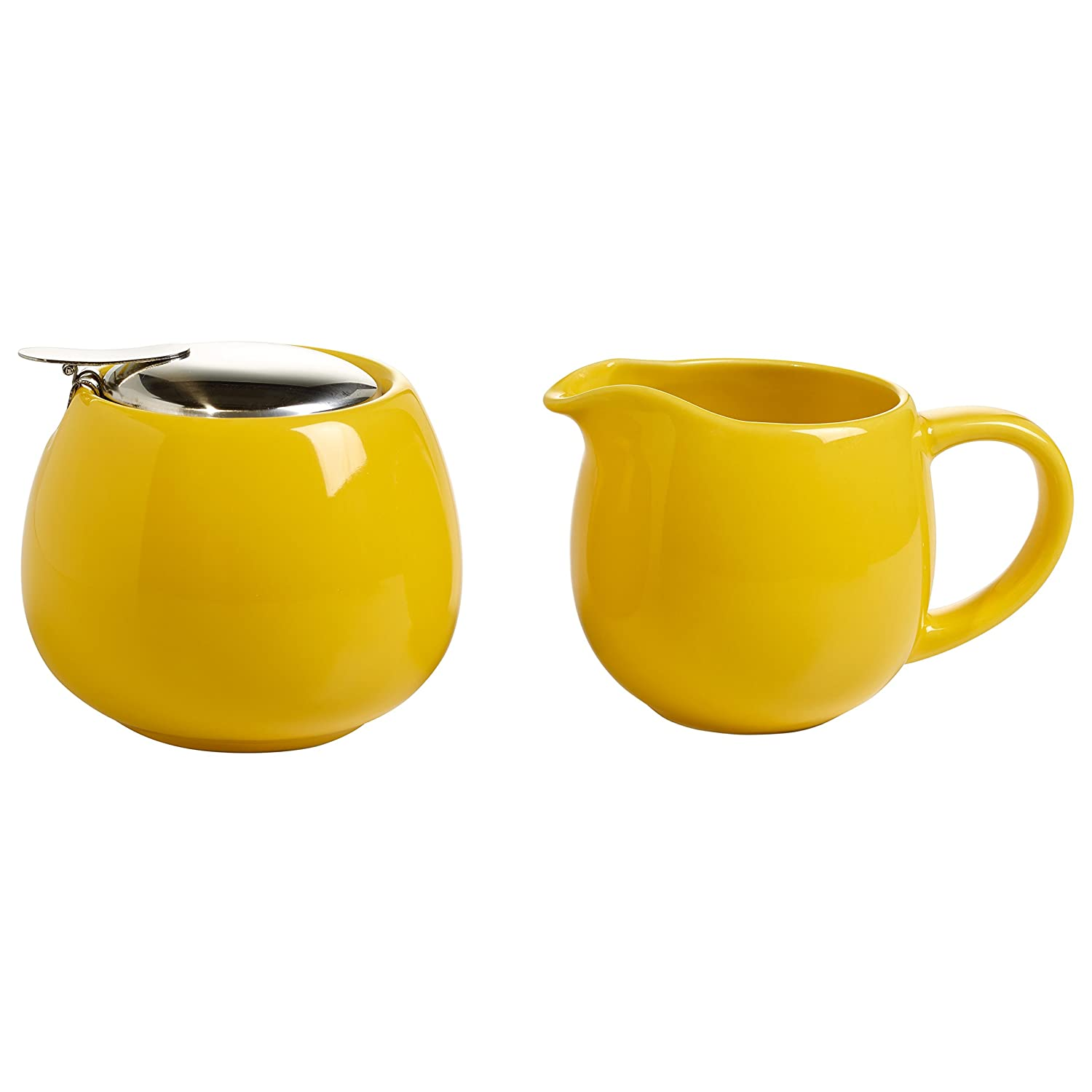 Maxwell Williams IT21000 Milk Sugar Set, Porcelain, Yellow, 11.4 x 35.6 x 55.2 cm 2 Units Maxwell & Williams
