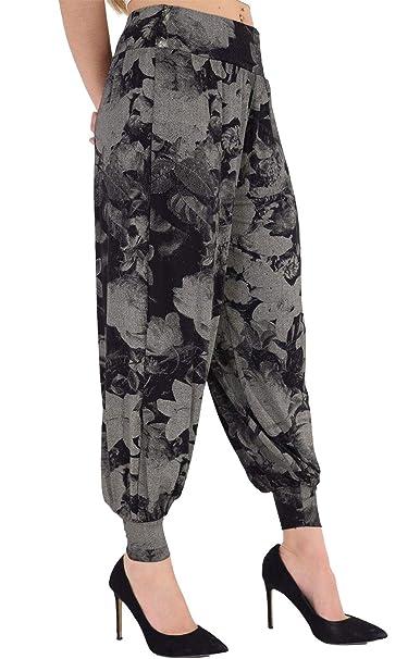 f248fe48 Hi Fashionz Pantalones de Cintura Alta Impresos para Mujer Alibaba Harem  Pantalones Pantalones de Cintura Alta Tie Dye Floral Peque o/Mediano:  Amazon.es: ...