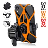 Bike Phone Mount - Kymlaa Universal Adjustable Cell Phone Holder for Bicycle Motorcycle Compatible for iPhone Max Xr Xs X Pro 11 8 7 6 5 Plus Samsung Galaxy S10 S9 S8 S7 S6 Edge Note 10 9 8 7 6