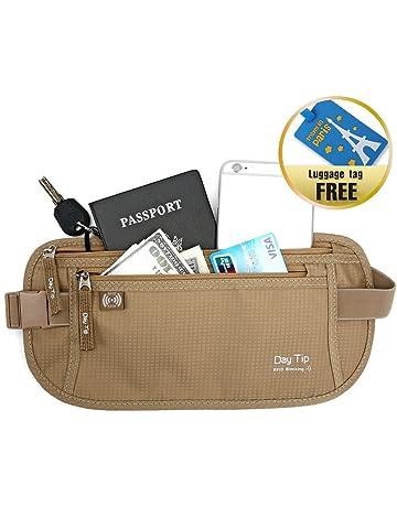 bd27479e4f Day Tip Money Belt - Passport Holder Secure Hidden Travel Wallet with RFID  Blocking
