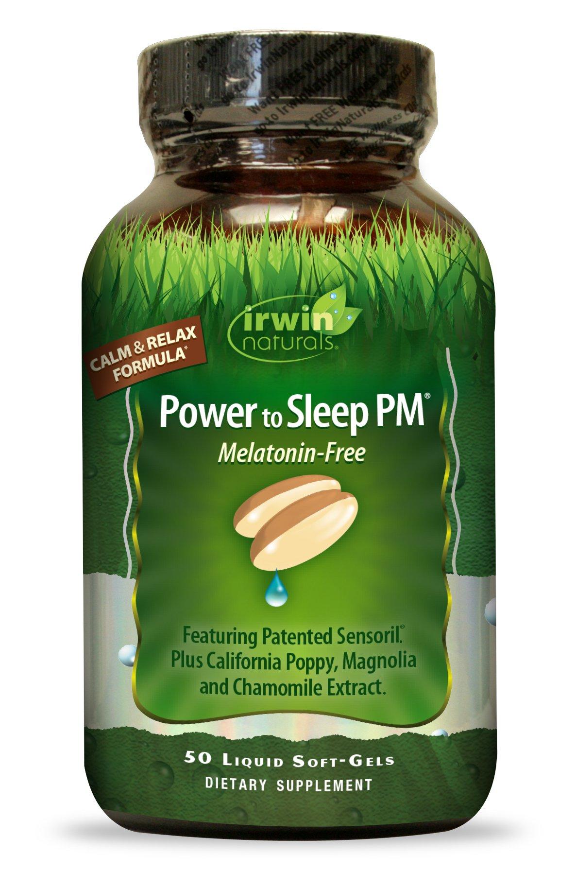 Irwin Naturals Power To Sleep PM Melatonin-Free Supplement, 50 Count