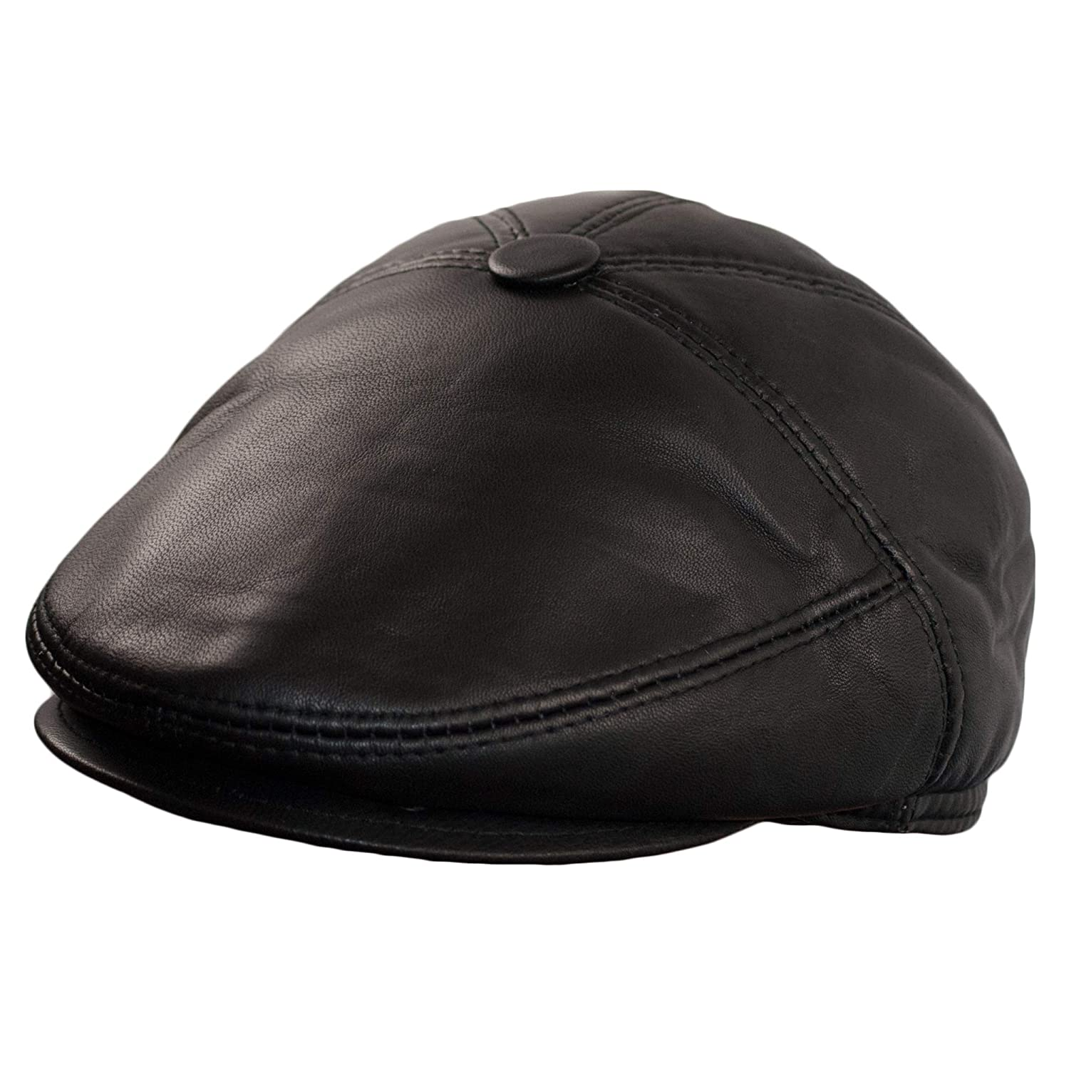 Dazoriginal Newsboy Hats Men Baker boy Leather Hat 5 Panel Cap Irish Flat Cap