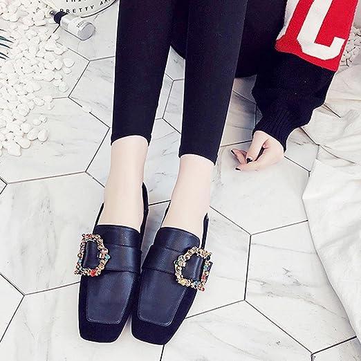 Zapatos de mujer de los pisos de Covermason Zapatos cómodos de cristal cómodos Zapatos deportivos de deslizamiento suave(41 EU, Negro): Amazon.es: Ropa y ...