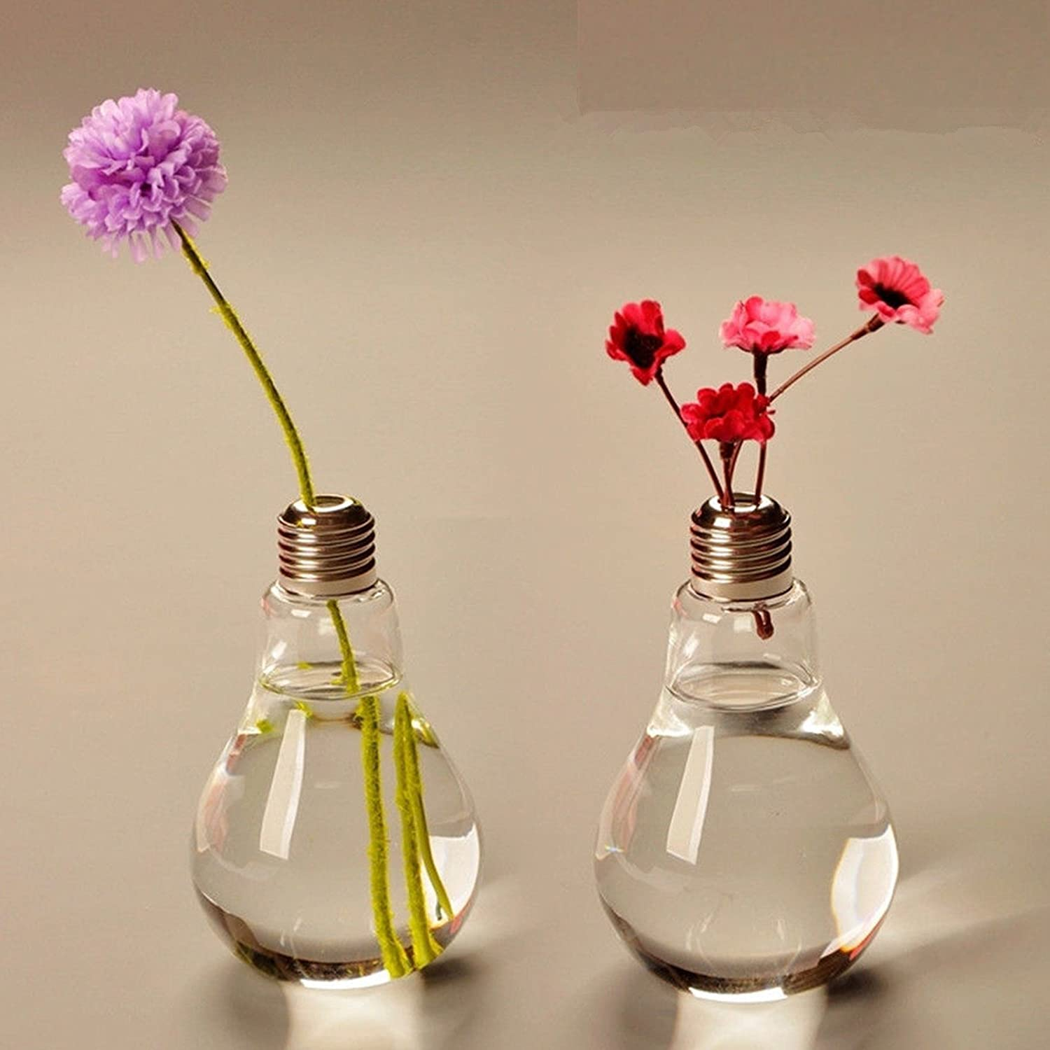 Light Bulb Shaped Glass Vase f...