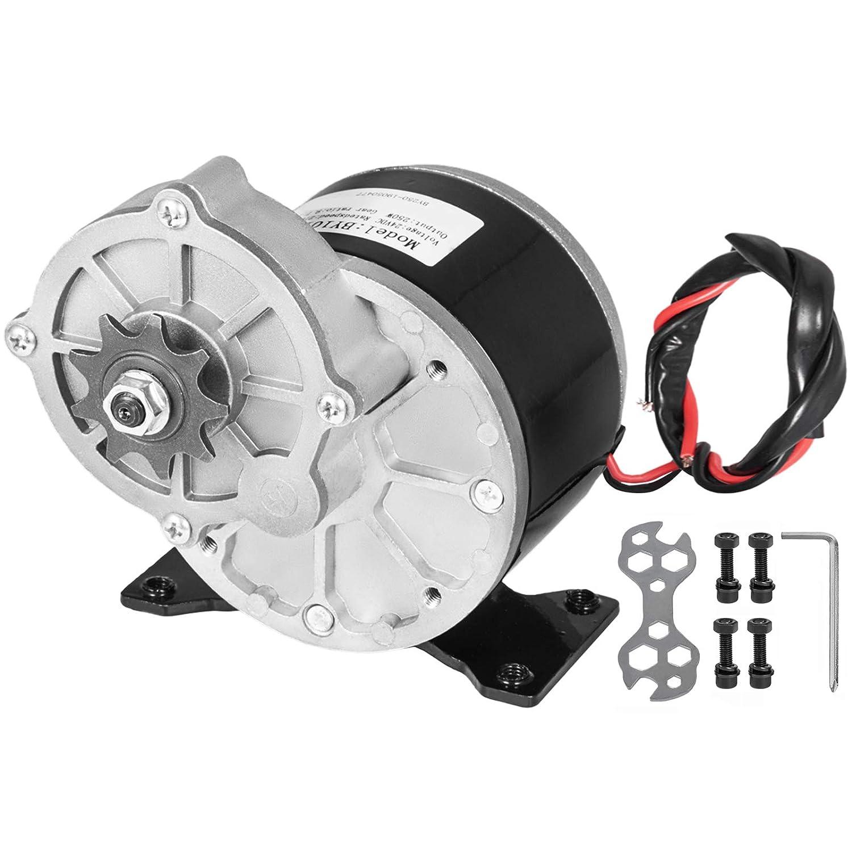 Mophorn Motor de Corriente Continuo 250W Motor de Engranajes 24V Motor Eléctrico