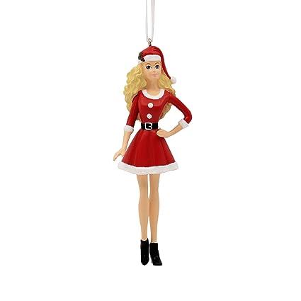 Barbie Christmas Ornament.Hallmark Mattel Barbie In Santa Outfit Ornament Santa Claus