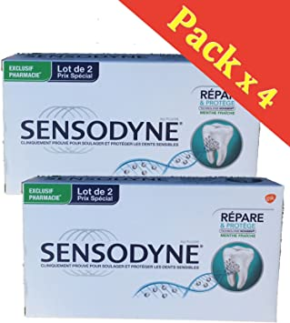 Sensodyne Repara y protege la pasta de dientes Pack de 4 X 75 Ml: Amazon.es: Salud y cuidado personal