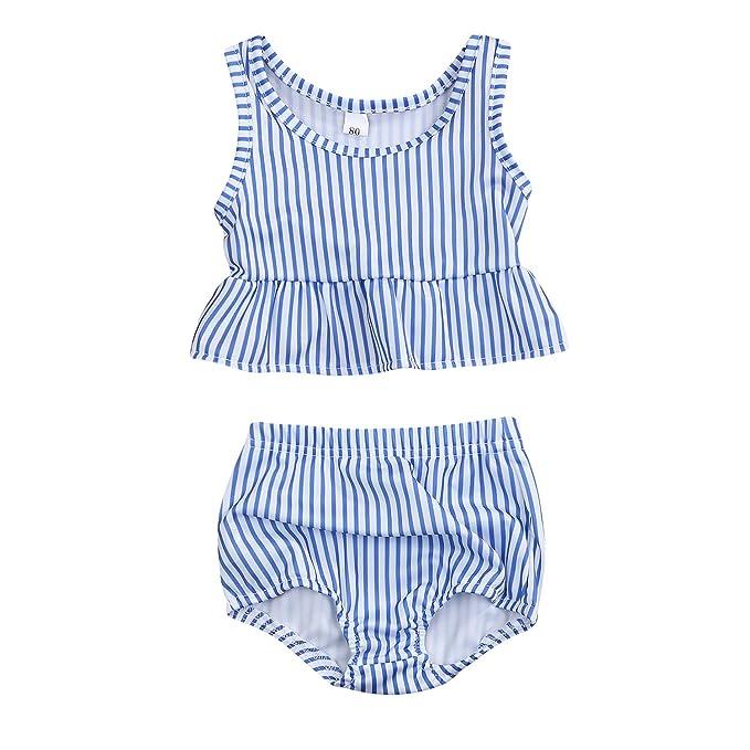 Amazon.com: Traje de baño juvenil de dos piezas para bebé y ...