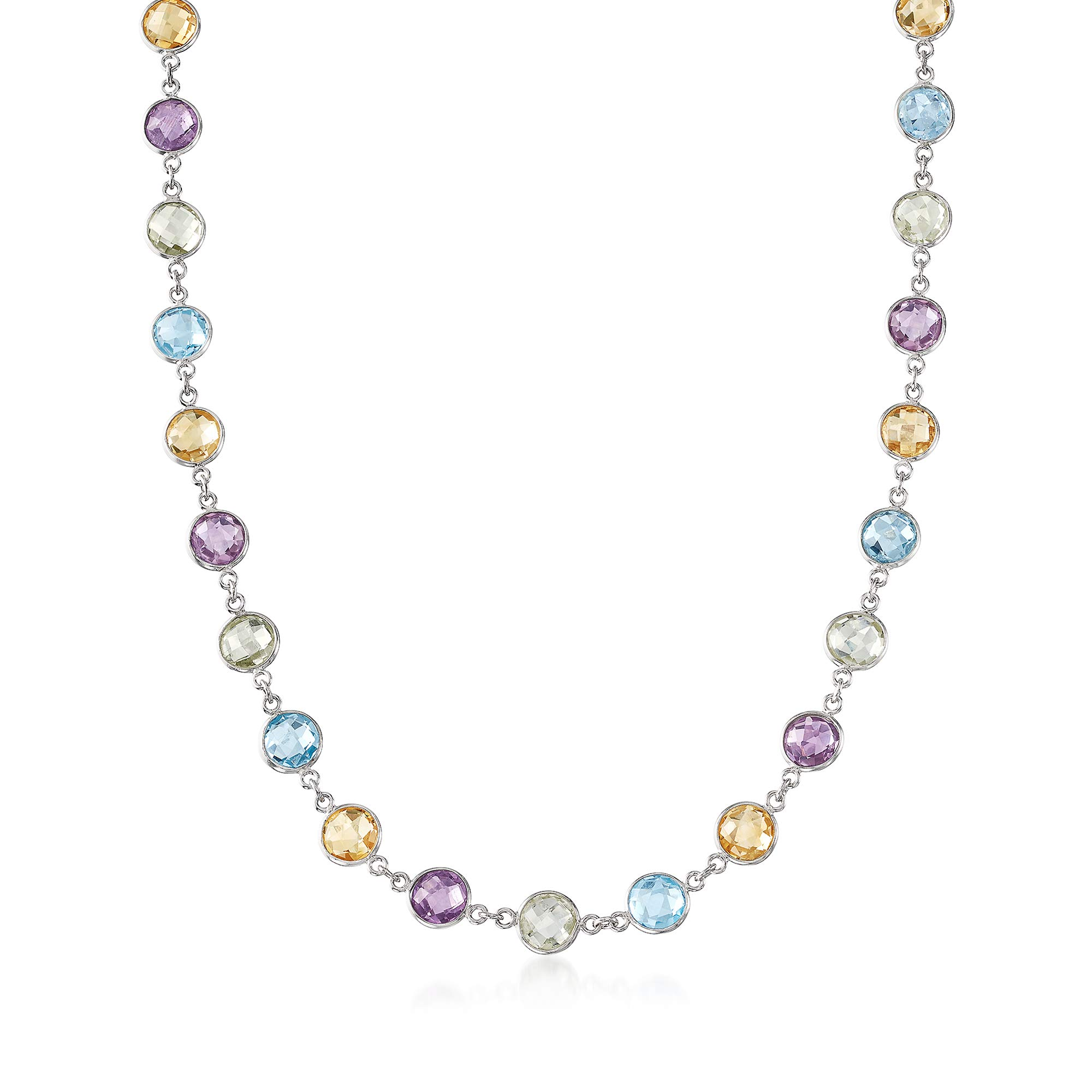 Ross-Simons 48.00 ct. t.w. Multi-Stone Necklace in Sterling Silver by Ross-Simons