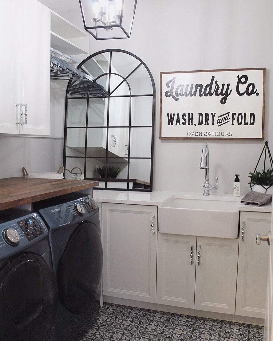 Miiyu6Bird Laundry Co 20cm*29cm Targa in Legno
