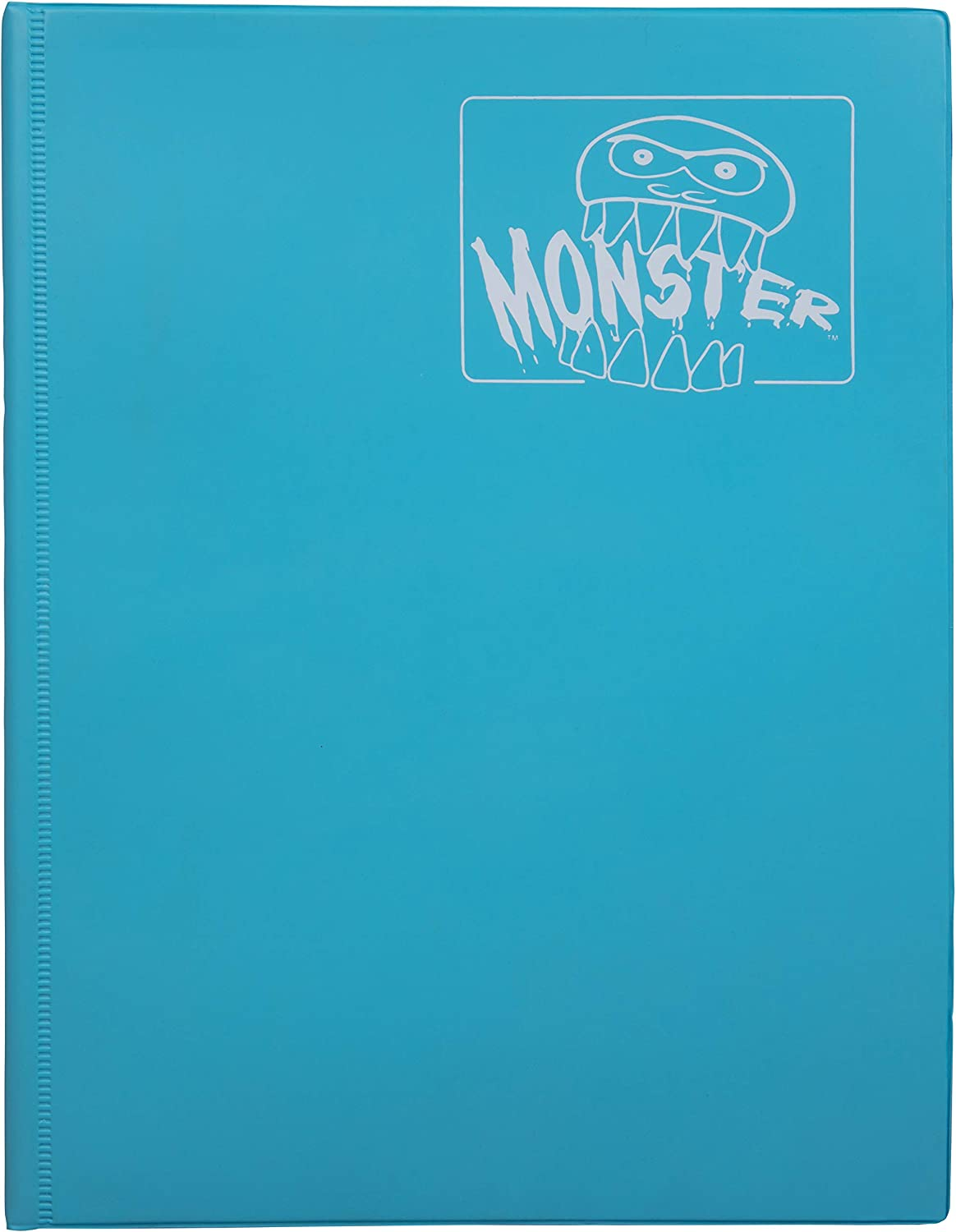 Monster Binder - 9 Pocket Trading Card Album - Matte Blue (Anti-Theft Pockets Hold 360+ Yugioh, Pokemon, Magic The Gathering Cards)