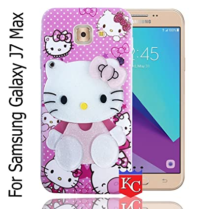 online retailer ca3b7 b10f7 KC Mirror Kitten Girl with Diamonds Studs Back Cover for Samsung Galaxy J7  Max (Pink)