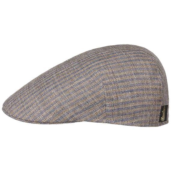 Borsalino Duckbill Stripes Flat Cap Ivy hat Linen  Amazon.co.uk  Clothing e3e31925d68c