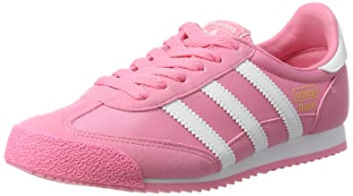 adidas Originals Girls Dragon Trainers US6.5 Pink