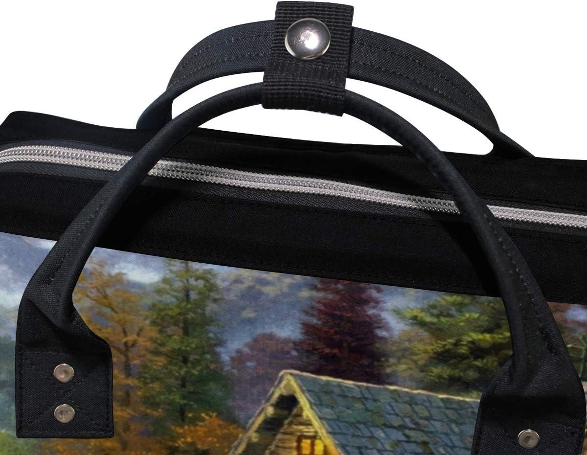 MONTOJ Village of Dorset Deers Love Canvas Backpack Travel Campus Backpack