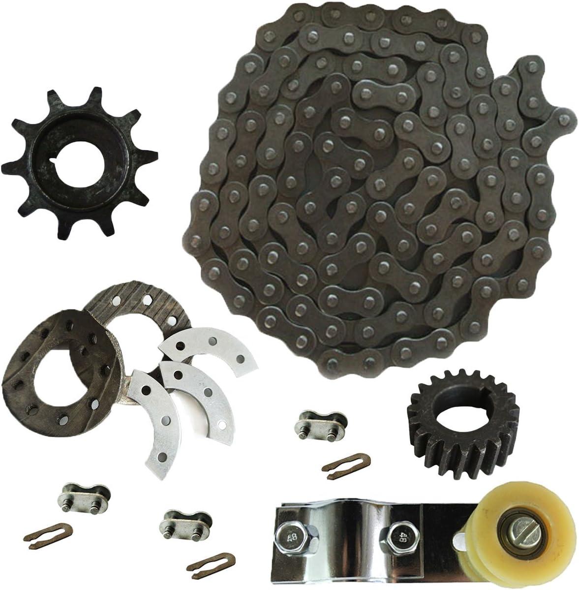 415 Chain,Sprocket Mount Kit,Chain Tensioner fits 49cc 66cc 80cc Motorized Bike