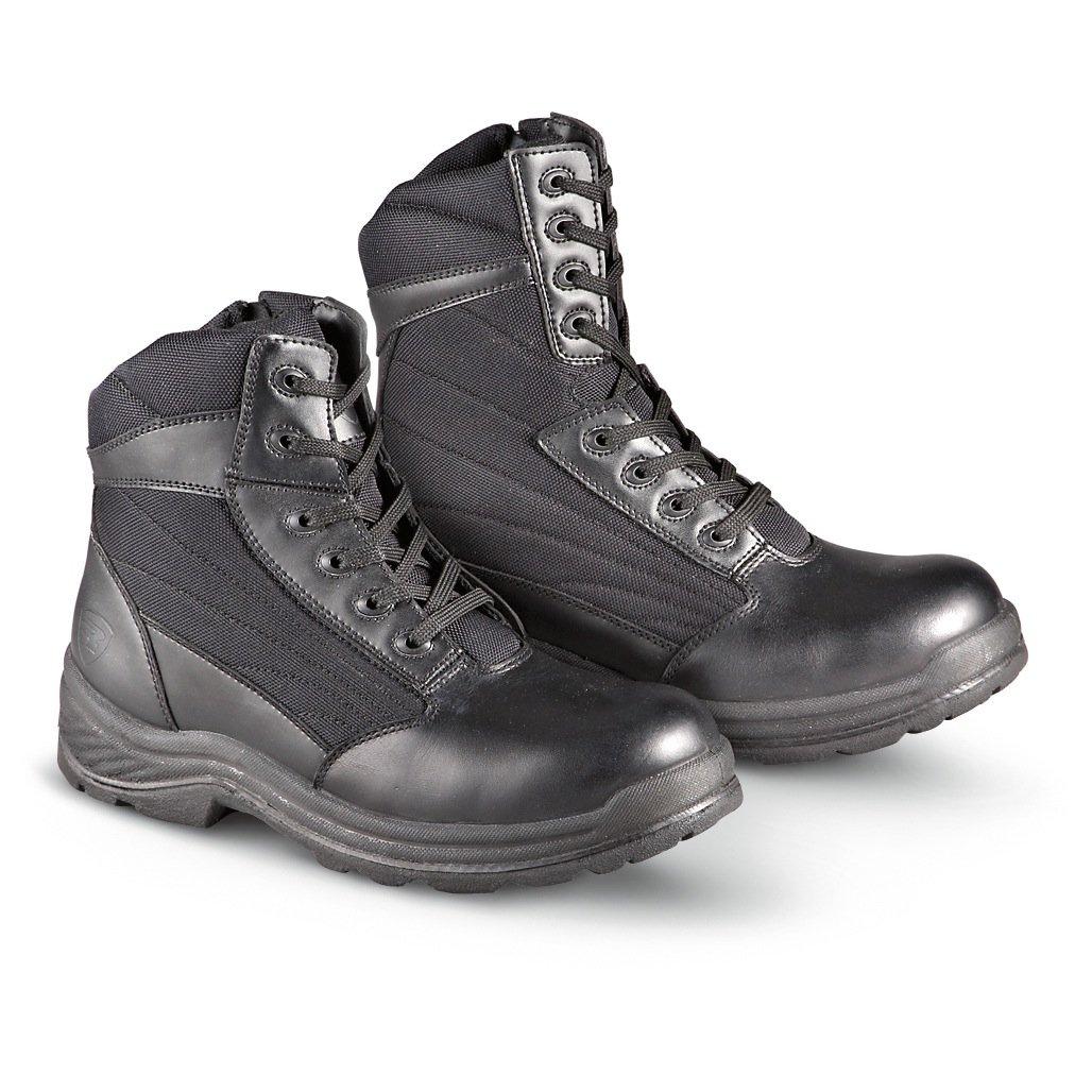 0a3fbbaff9a Amazon.com: Knapp Men's 8'' Side Zipper Leather, Nylon Tactical ...