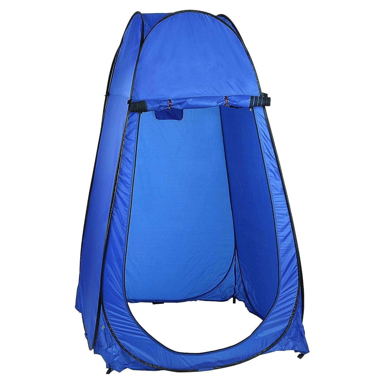 Befied Tienda de Campaña Pop Up Plegable y Portátil impermeable para Ducha Cambiador o vestidor compacta 104 x 104 x 190 cm (Azul)