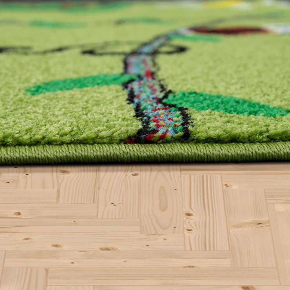 Alfombra Infantil Verde Pelo Corto Selva tama/ño:80x150 cm