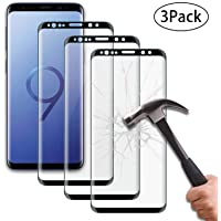[3 Pack] Samsung Galaxy S10 Screen Protector,Bulletproof Film 0,3mm 9H Full Coverage Tempered Glass Sceen Protector for Samsung Galaxy S10 (6,1 Inch) [Black]