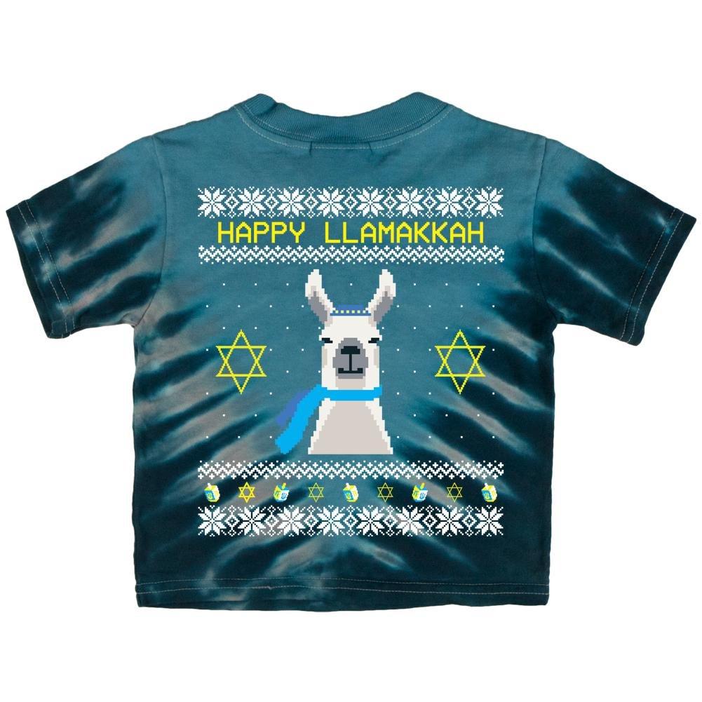 Llama Llamakkah Ugly Hanukkah Sweater Royal Adult Long Sleeve T-Shirt
