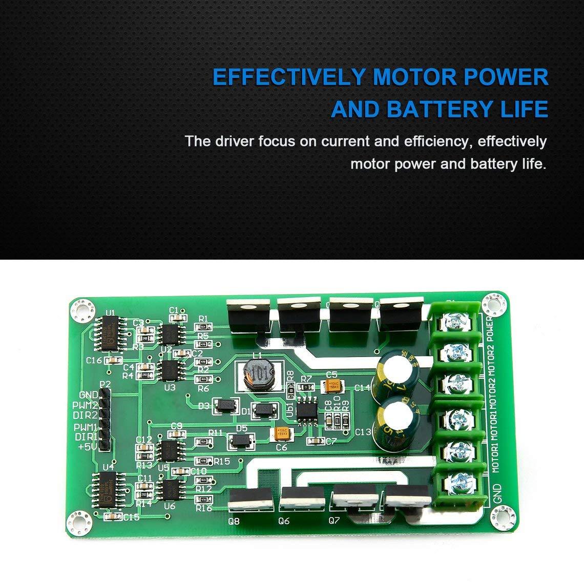 Module de carte de contr/ôleur de moteur double 3V-36V H-bridge DC MOSFET IRF3205 Peak 30A