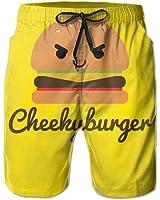 Cheeky Burger Men's Beach Shorts