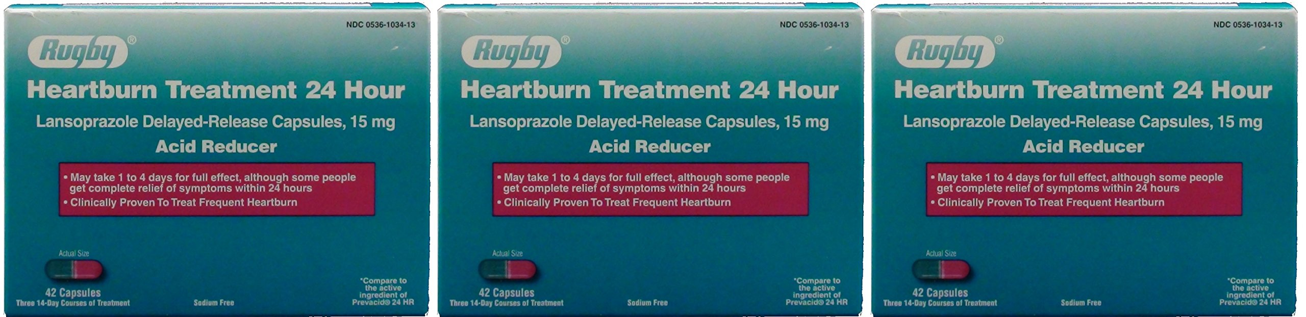 Lansoprazole 15mg Delayed Release Capsules (Prevacid Generic) 42ct- by RUGBY LABORATORIES by RUGBY LABORATORIES