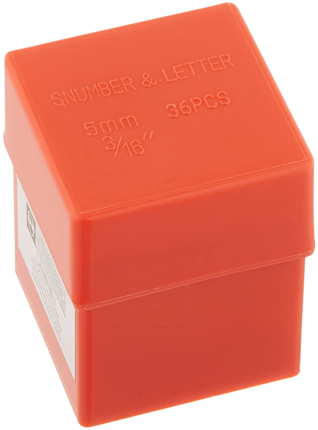 SE 955NLS 36-Piece 5mm Number and Letter Punch Set in Plastic Box