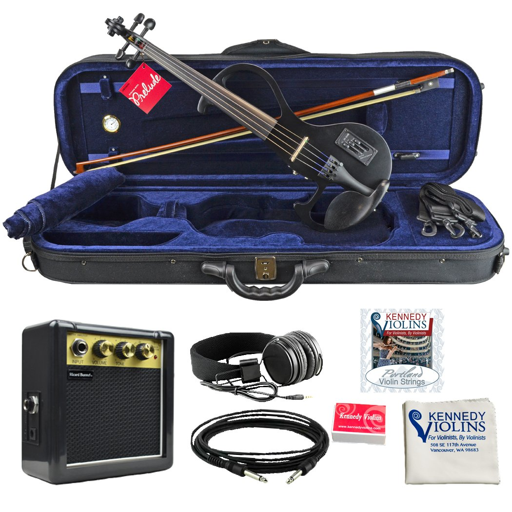Bunnel EDGE Electric Violin Outfit Jet Black Amp Included
