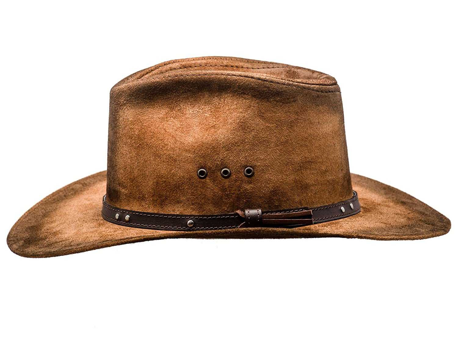 7539785f1be Sterkowski Cattle Leather Classic Western Cowboy Outback Hat  Amazon.ca   Clothing   Accessories