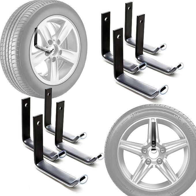 Reifenhalter Wandmontage Für 8 Reifen Zubehör Für Reifen Reifenregal Felgenbaum Auto
