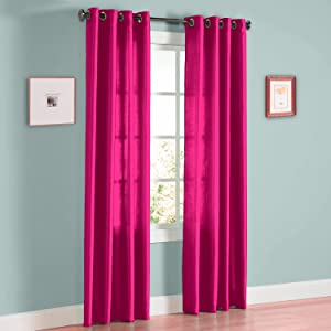 Gorgeous Home (MIRA) 2 Panels Solid Grommet Faux Silk Window Curtain Drapes Treatment in 63