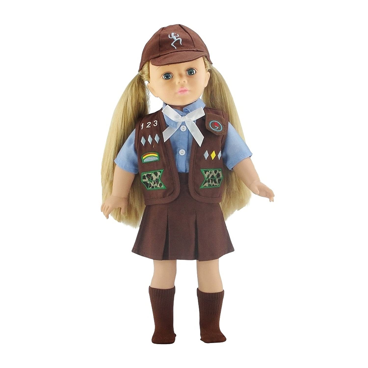 18 Inch Doll Clothes Like Brownie Girl's Club Outfit | Fits 18 American Girl Dolls | Gift-boxed! by Emily Rose Doll Clothes