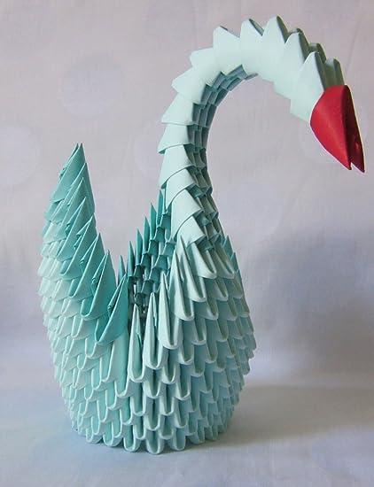 Aniviya Handmade 3d Origami Swan Blue Amazon Home Kitchen