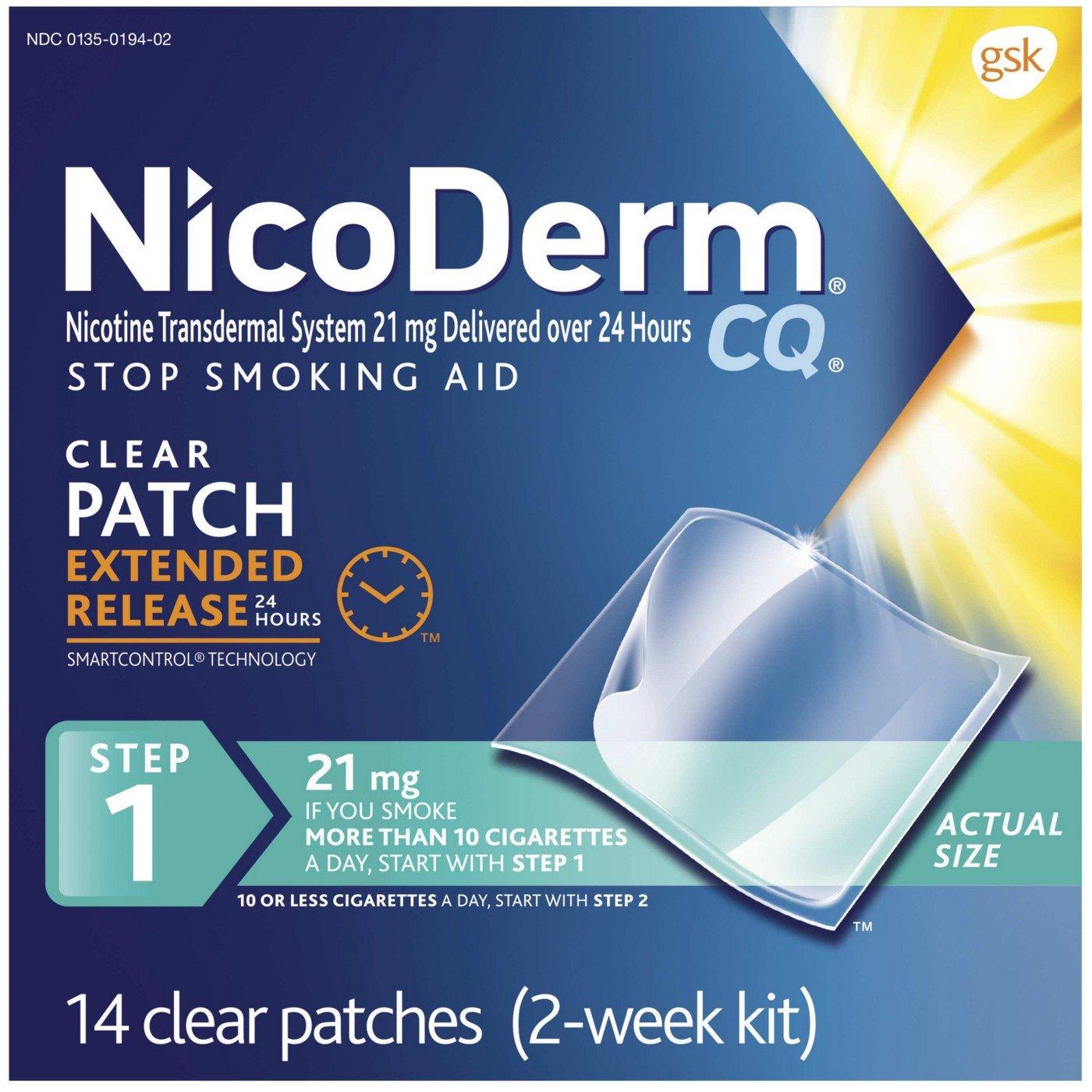 Nicoderm Cq Clear Patch Size 14ct Nicoderm Cq Clear Patch 14ct