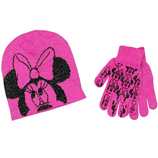 b83247e7b53 Amazon.com  Minnie Mouse Youth Beanie Hat and Gloves Set (One Size ...
