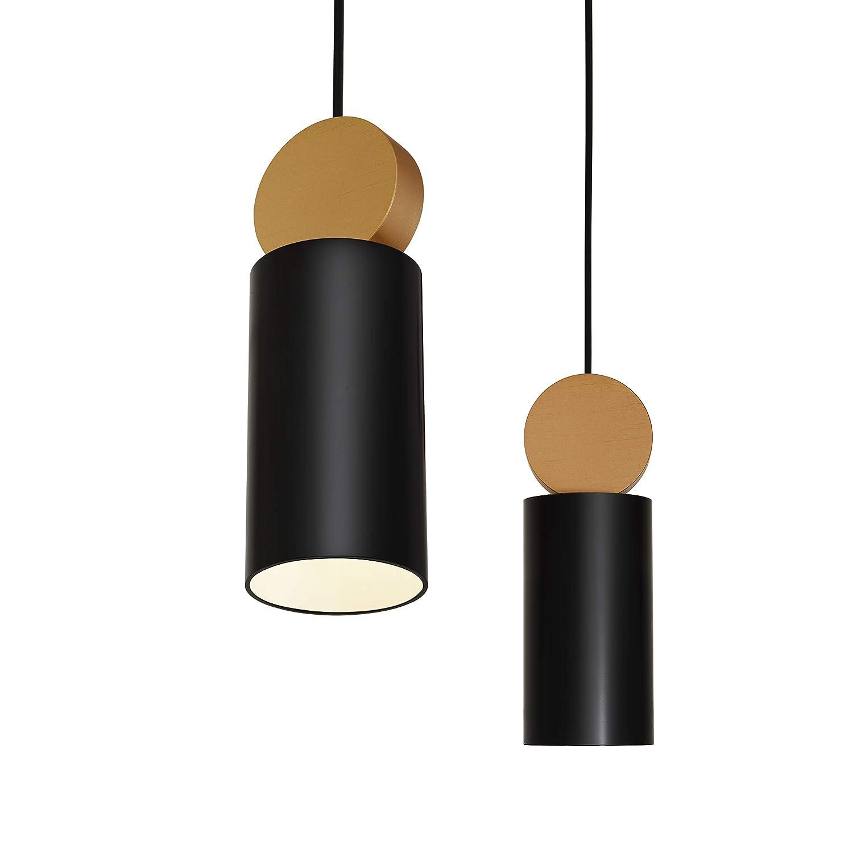 Nero e Bianco a scelta per sala da pranzo corridoio ristorante cantina sottopiano 1 confezione Matiere Lampada sospensione Vintage lampada a sospensione Retro paralume Industrial per E27 lampadina
