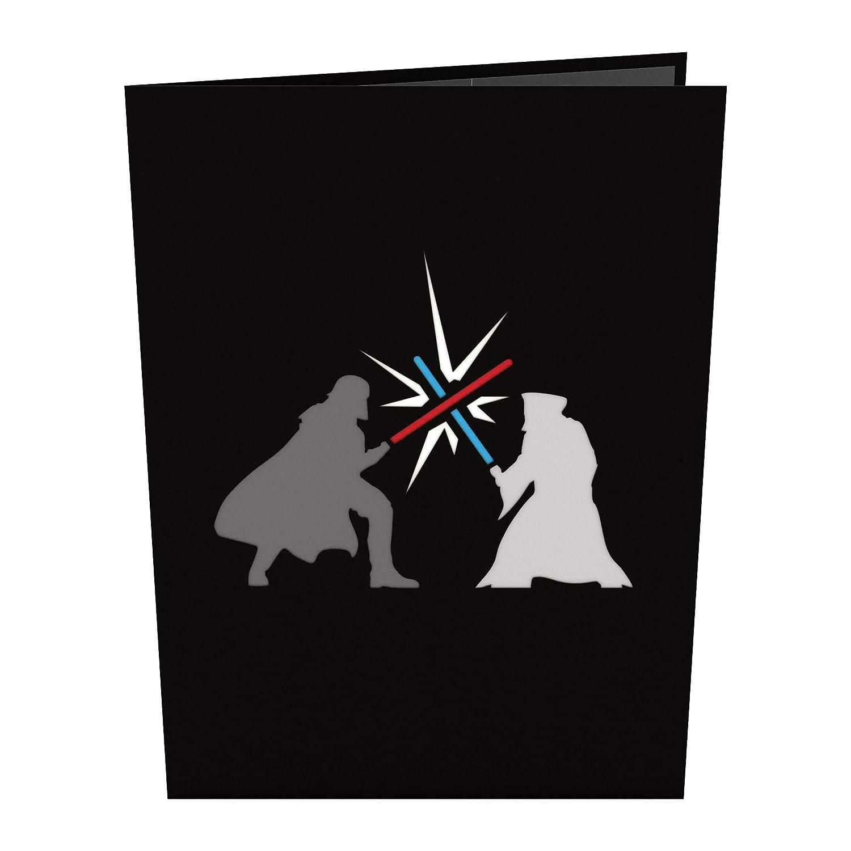 Tarjeta en 3D Star Wars Obi-Wan vs. Darth Vader
