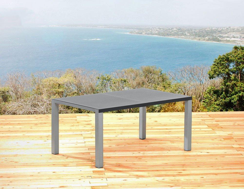 Sun Garden Gartentisch 180 X 100 Cm Tisch Aluminium Silber Und