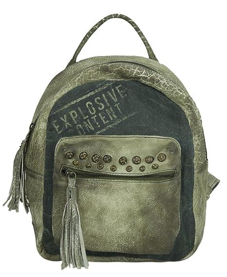 fac0370c9e402 Sunsa Damen Rucksack Backpack kleine Schultertasche Umhängetasche Ranzen  Daypack Vintagetasche in Vintage Retro Design Damentasche Frauentasche