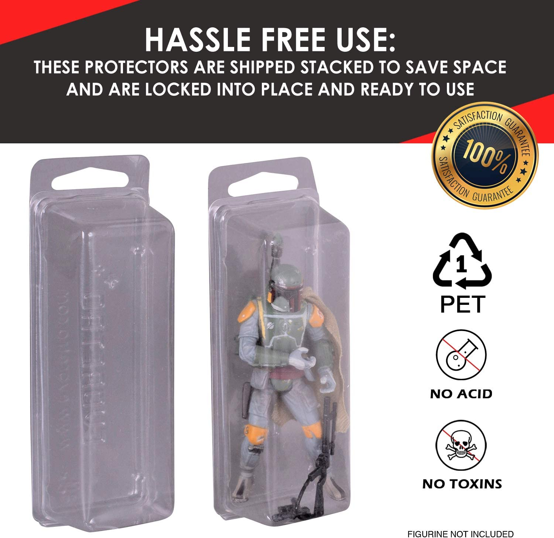 GI JOE BLISTER CASE LOT OF 5 Action Figure Display Protective Clamshell MEDIUM