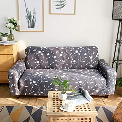 Stupendous Ihoming Printed Stretch Sofa Slipcover Loveseat Slipcover Couch Slipcover With 2 Free Pillow Covers 2 3 4 Seat Sofa Covers Loveseat White Flowers Unemploymentrelief Wooden Chair Designs For Living Room Unemploymentrelieforg