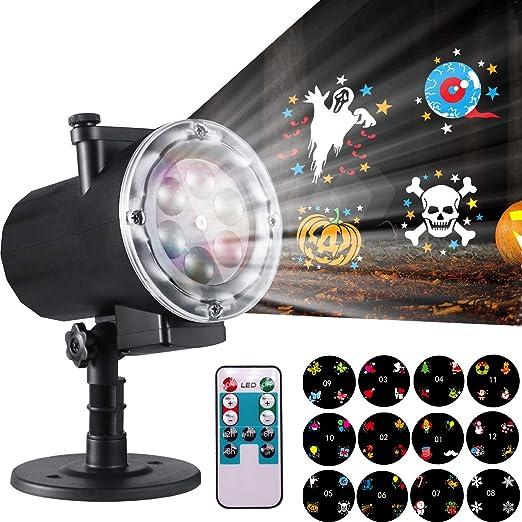 Amazon.com: Yakalla Halloween luces de proyector de Navidad ...