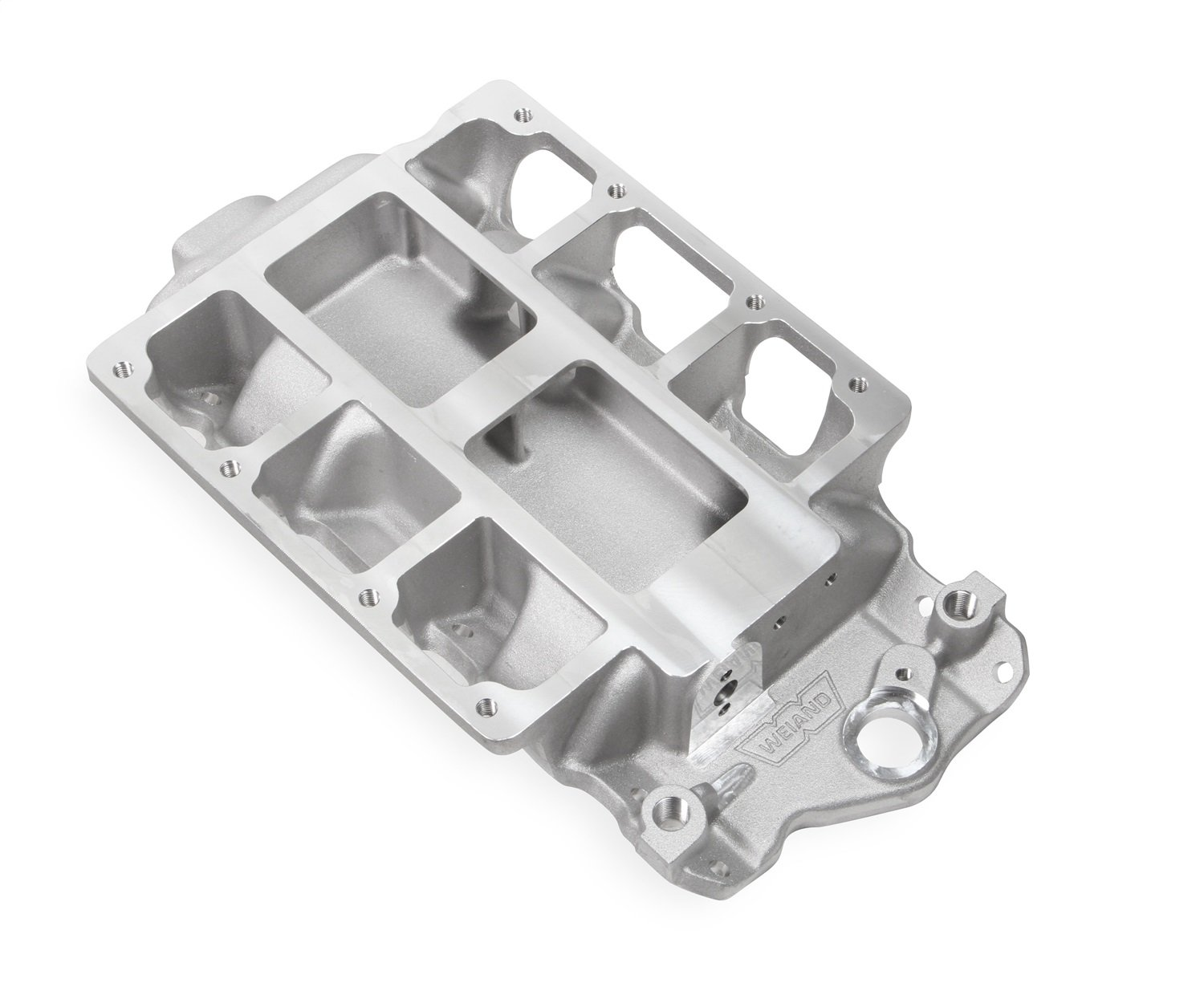 Weiand 7136Win 6-71/8-71Sbc Supercharger Intake Manifold Satin by Weiand