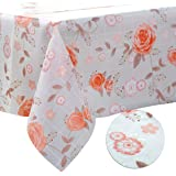 DITAO Rectangle Tablecloth Waterproof Wipeable Floral Table Cloth for Kitchen Outdoor Picnic Camping, 54 x 72 inch