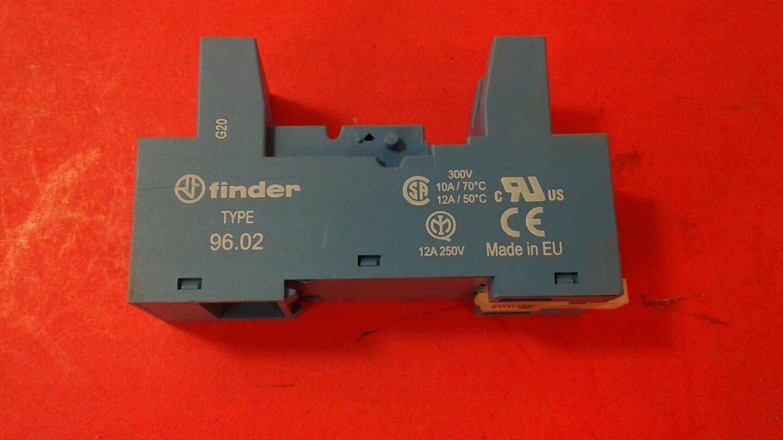 12A DIN RAIL FINDER 96.02 RELAY SOCKET 250V