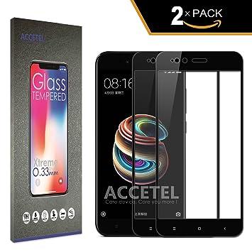 RE3O Xiaomi MI A1 / MI 5X Protector Cristal Templado Cobertura Completa: Amazon.es: Electrónica
