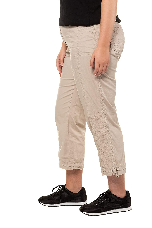54 Pantalones para Mujer, Beige 35 Ulla Popken Cargohose 7//8